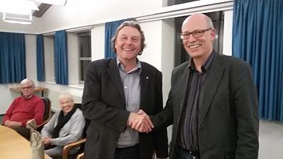 Landtagsabgeordnete Olaf Schulze und Ortsvorsitzender Ralf Johannesson